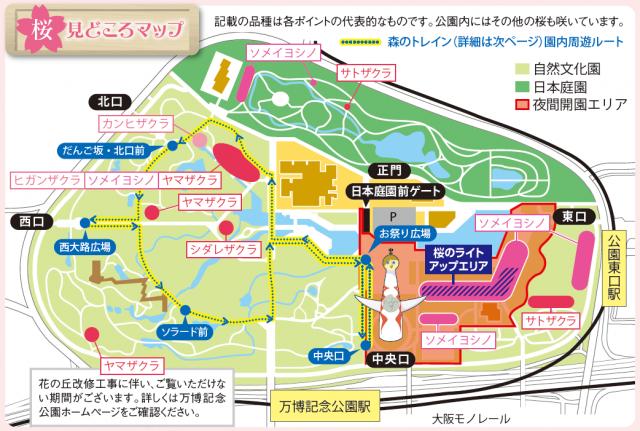 桜の見どころマップ
