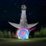 万博イルミ太陽の塔2016