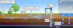 地下水から散水に利用