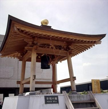 1970年大阪万博当時、国連館に展示されていた「平和の鐘」