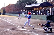 少年野球場利用風景