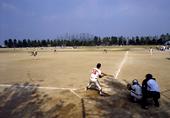 軟式野球プレー風景 1