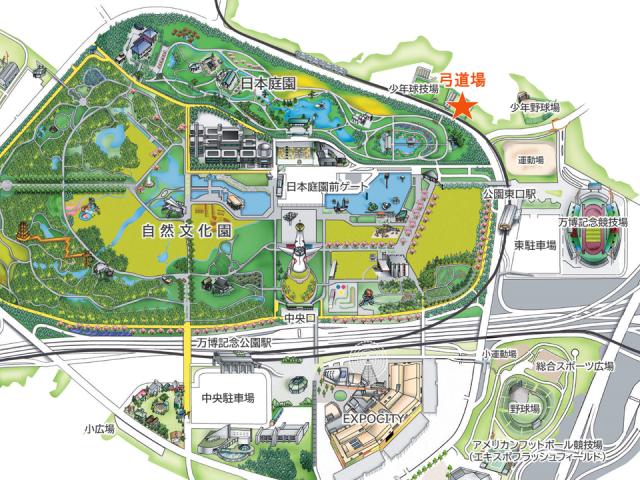 弓道場_アクセスマップ