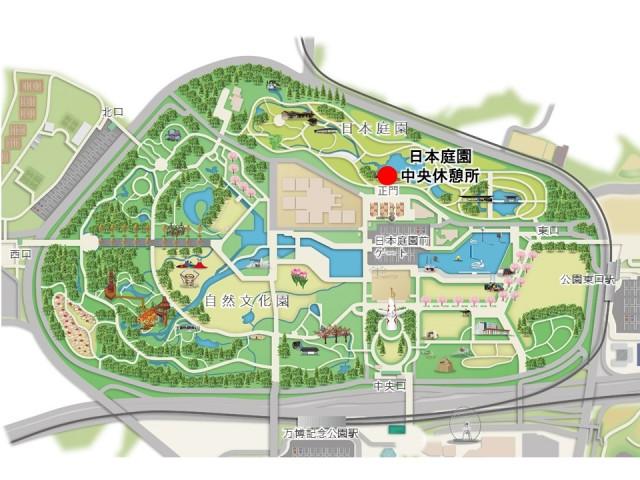 日本庭園中央休憩所_マップ