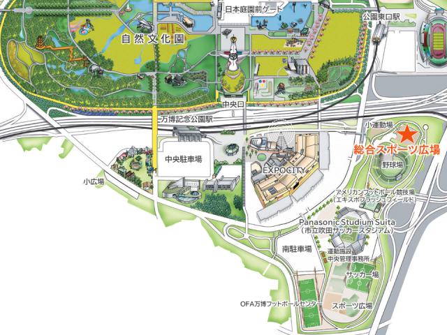 総合スポーツ広場_アクセスマップ