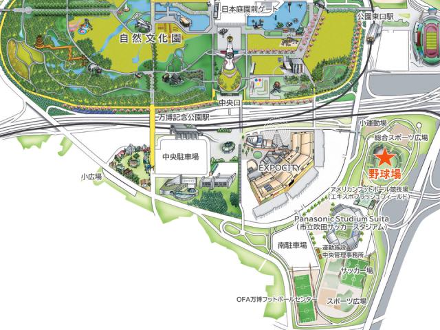 野球場アクセスマップ